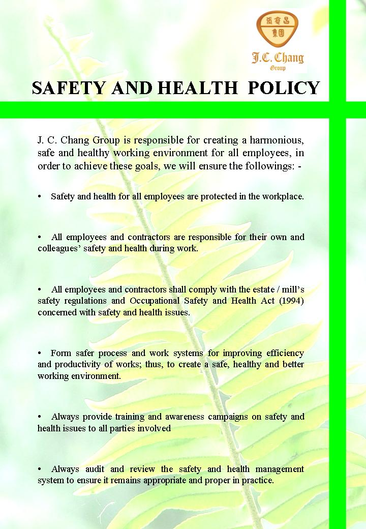 Know The Health And Safety Policies Coursework Academic Writing Service